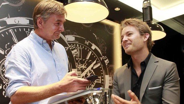 """Nico Rosberg im Gespräch mit dem """"Krone""""-F1-Experten Richard Köck (Bild: Gerhard Gradwohl)"""