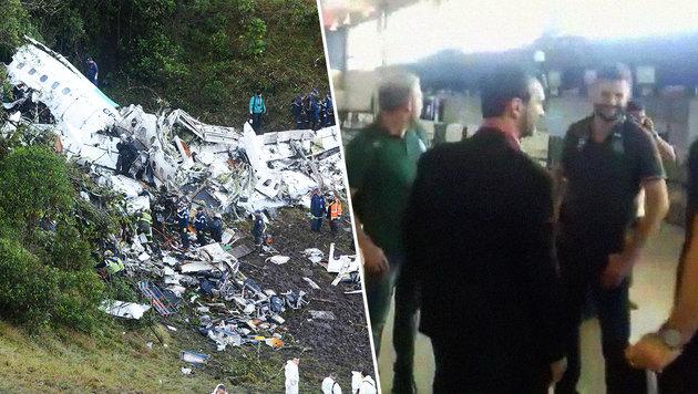 Flugzeug-Drama: Video zeigt Fußballteam vor Crash (Bild: AP/Luis Benavides, facebook.com)