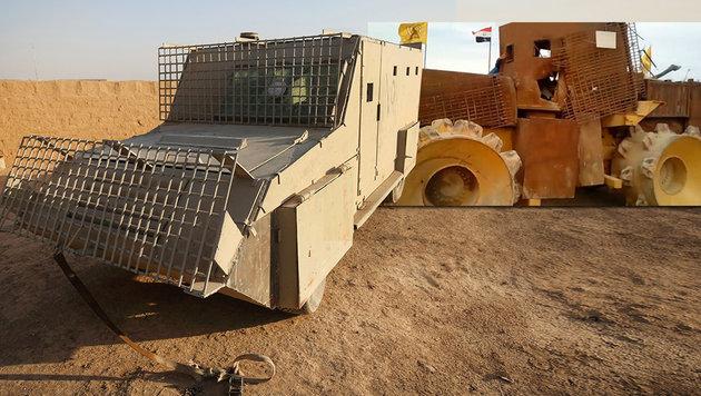 """Mad Max""-Fahrzeuge als gefürchtete Waffe des IS (Bild: LiveLeak, APA/AFP/AHMAD AL-RUBAYE)"