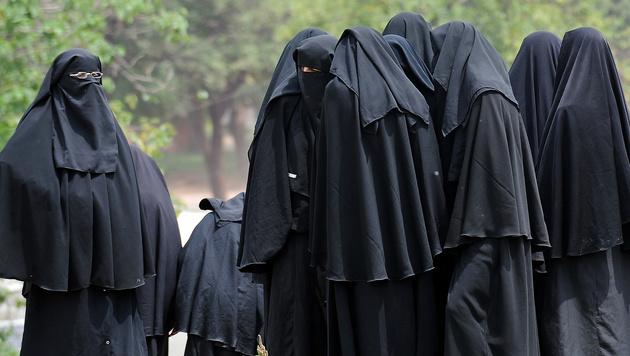 Marokko: Burkaverbot im Schnellverfahren (Bild: FAROOQ NAEEM/AFP/picturedesk.com)