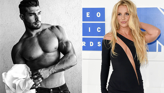 Dieses sexy Fitnessmodel ist angeblich Britney Spears neuer Freund. (Bild: instagram.com/samasghari, APA/AFP/GETTY IMAGES/Jamie McCarthy)