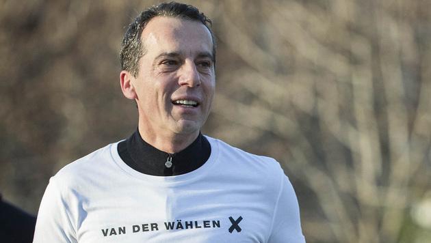 Kern wirbt für Van der Bellen (Bild: APA/SP…)