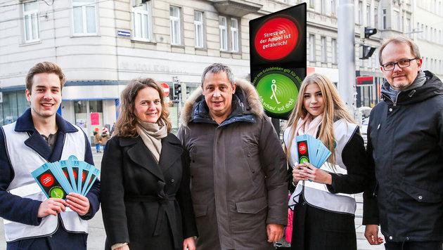 Absurde Kampagne: So funktioniert eine Ampel (Bild: Mobilitätsagentur Wien/Christian Fürthner)