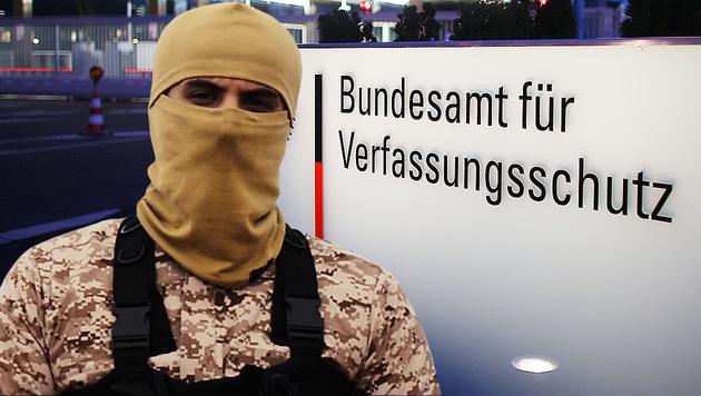Enttarnter Islamist spielte auch in Pornos mit (Bild: APA/AFP/dpa/OLIVER BERG, AFP/AL-HAYAT MEDIA CENTRE (Symbolbild))