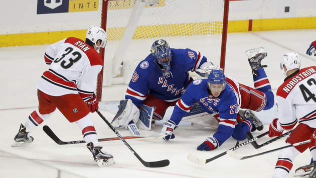 Grabner krank: Rangers drehen Spiel gegen Carolina (Bild: AP)