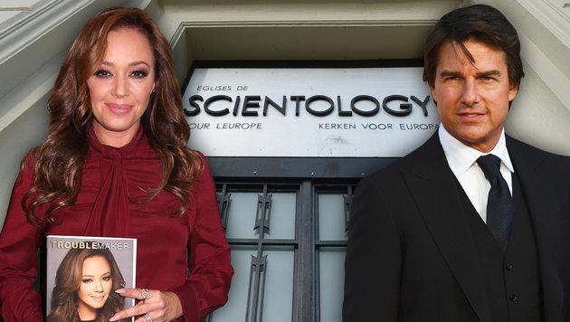 Leah Remini erhebt harte Vorwürfe gegen Tom Cruise (Bild: APA/AFP/JOHN THYS, APA/AFP/JUSTIN TALLIS, AP)