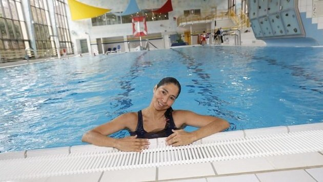 Anna lässt es sich im Paracelsus-Bad noch einmal sichtlich gut gehen. (Bild: Markus Tschepp)