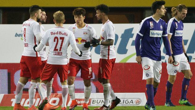 RB Salzburg gewinnt bei der Wiener Austria mit 3:1 (Bild: APA/HANS PUNZ)
