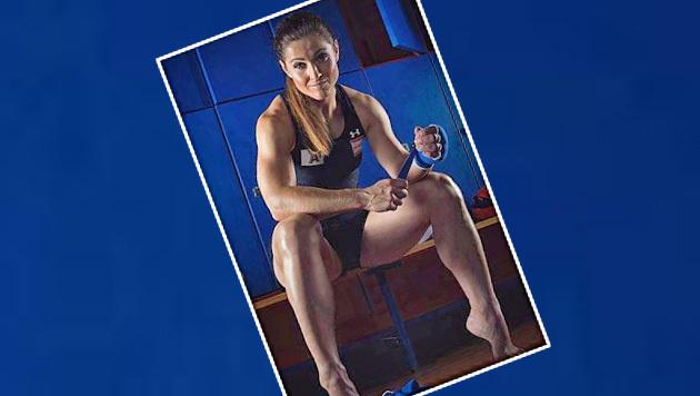 Beeindruckend! Ski-Lady Lizz Görgl lässt die Muskeln spielen. (Bild: Instagram)