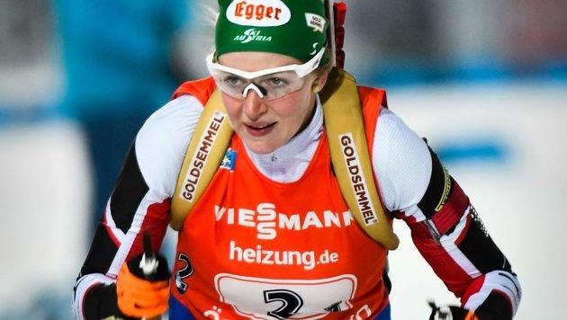 Tirolerin Lisa Hauser in Östersund auf Platz 7 (Bild: APA/AFP/TT News Agency/ROBERT HENRIKSSON)