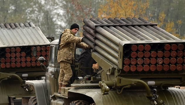 Ukraine testet Raketenabwehrsystem nahe der Krim (Bild: APA/AFP/GENYA SAVILOV)