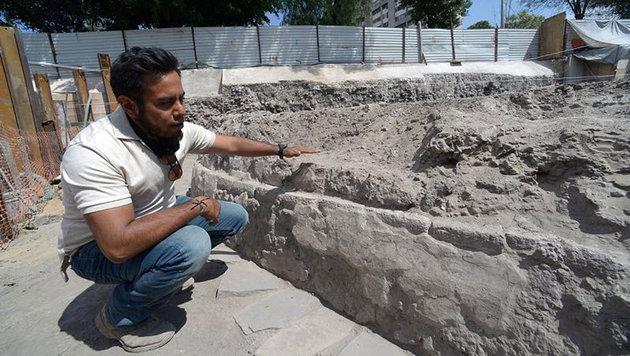 Azteken-Tempel mit Skelettresten entdeckt (Bild: Hector Montano)