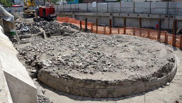 Azteken-Tempel mit Skelettresten entdeckt (Bild: INAH/Hector Montano)