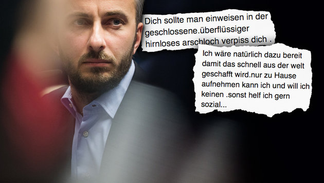 Böhmermann bringt Internet-Troll zum Schweigen (Bild: facebook.com/Jan Böhmermann, APA/dpa/Rolf Vennenbernd)