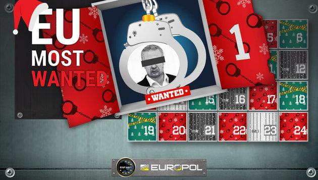 Europol sucht Schwerverbrecher per Adventkalender (Bild: Europol)