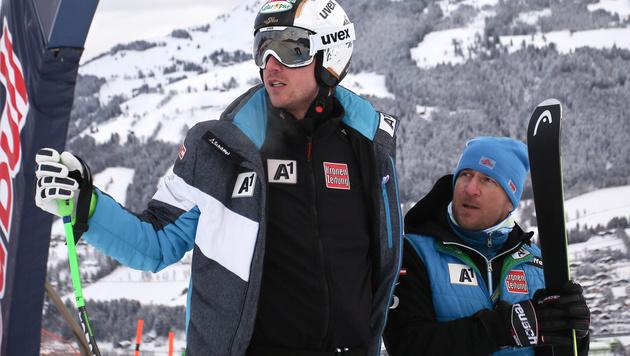 Hannes Reichelt (links) und Trainer Florian Winkler (rechts) (Bild: GEPA)