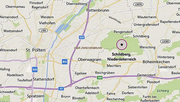 Die Tragödie ereignete sich in der Ortschaft Schildberg nahe Böheimkirchen in Niederösterreich. (Bild: Screenshot/GoogleMaps)