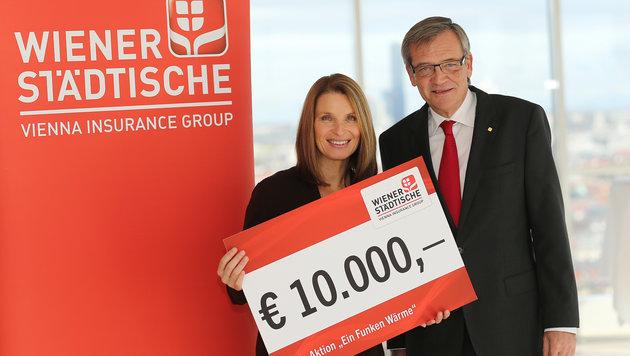 Wiener Städtische Generaldirektor Mag. Robert Lasshofer mit Barbara Stöckl (Bild: KRONEN ZEITUNG)