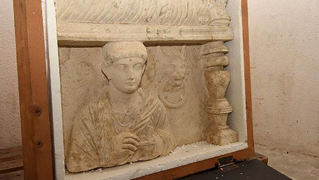 Kulturgüter aus Palmyra in Zollfreilager entdeckt (Bild: APA/AFP/Geneva Prosecutors Office)