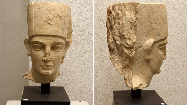 Kulturgüter aus Palmyra in Zollfreilager entdeckt (Bild: AP/Geneva Prosecutors Office)