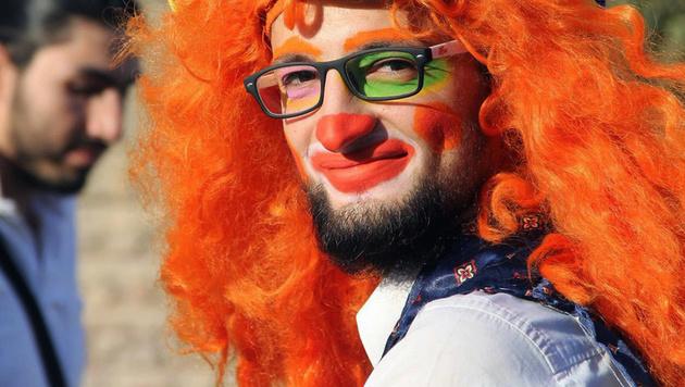 Anas al-Basha, der Clown von Aleppo, ist tot. (Bild: AP)