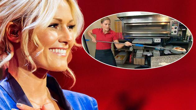 Helene Fischer: Goldkehlchen und Pizza-Bäckerin (Bild: ORF, SWR, krone.at-Grafik)