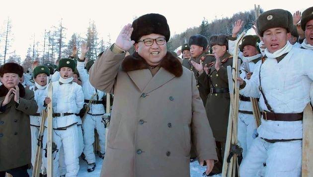 Nordkorea übt Zerstörung von Südkoreas Hauptstadt (Bild: APA/AFP/KCNA VIA KNS/KNS)
