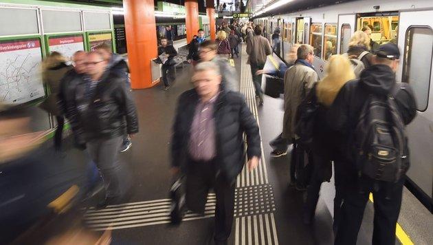Wien: U4-Züge fuhren in Station aufeinander (Bild: Wiener Linien)