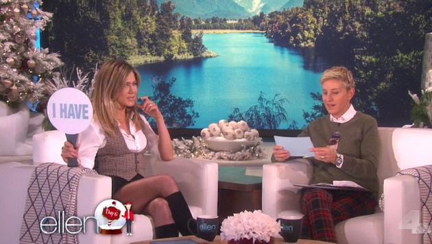 Jennifer Aniston bei Ellen DeGeneres (Bild: Viennareport)