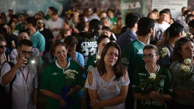 Fans des FC Chapecoense (Bild: APA/AFP/DOUGLAS MAGNO)