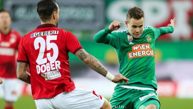 Rapid kann doch noch siegen: 1:0 gegen St. Pölten! (Bild: GEPA)
