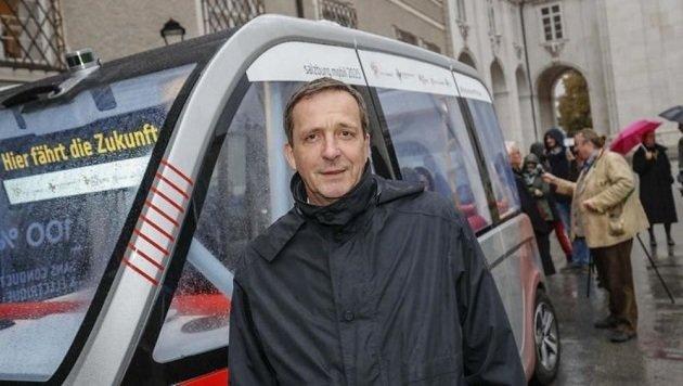 Johann Padutsch will eine Busspur in Lehen durchsetzen. (Bild: Markus Tschepp)