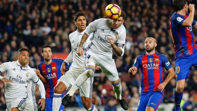 Ramos rettet Real Punkt im Clasico gegen Barca (Bild: AFP or licensors)
