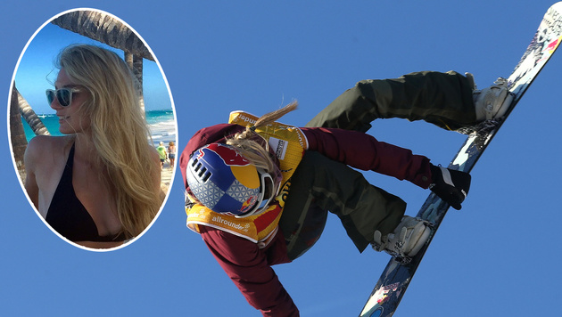 Snowboard-Beauty Anna Gasser mit Sieg-Dreierpack (Bild: APA/dpa/Ina Fassbender)