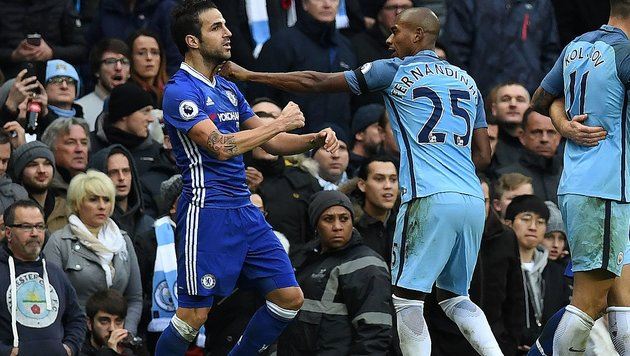Tumulte bei Chelseas 3:1-Sieg gegen ManCity (Bild: AFP or licensors)