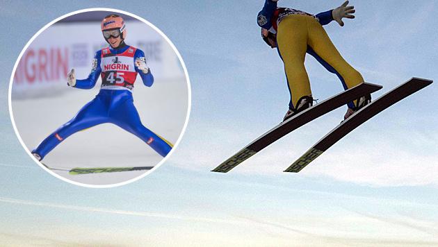 ÖSV-Adler sensationell! Kraft fliegt auf Stockerl (Bild: APA/AFP/ROBERT MICHAEL)