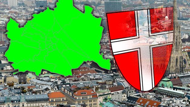 Wien-Ergebnisse: So wählte unsere Bundeshauptstadt (Bild: APA/HERBERT NEUBAUER, krone.at-Grafik)