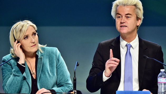 Le Pen und Wilders (Bild: APA/AFP/GIUSEPPE CACACE)