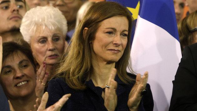 Manuel Valls Ehefrau Anne Gravoin (Bild: AP)