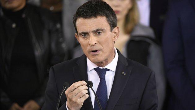 Premier Manuel Valls will für die Sozialisten in den Ring steigen (Bild: AFP)