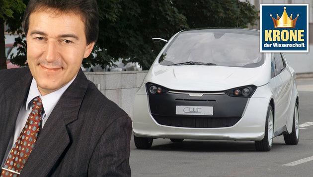 Auto der Zukunft fährt mit Gas aus Solarstrom (Bild: Magna Steyr, TU Wien/Foto Wilke)
