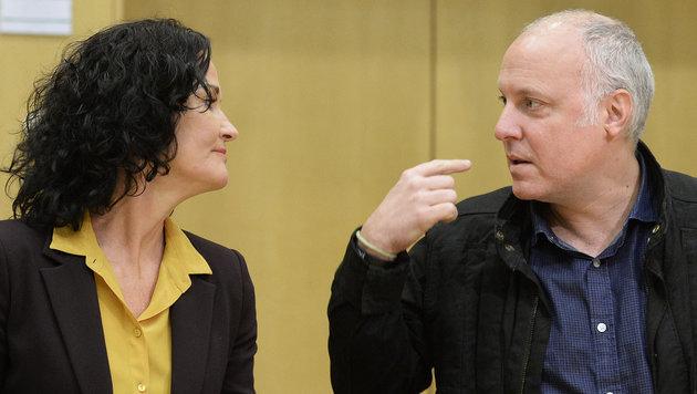 Stefan Wallner mit Grünen-Chefin Eva Glawischnig (Bild: APA/ROBERT JAEGER)