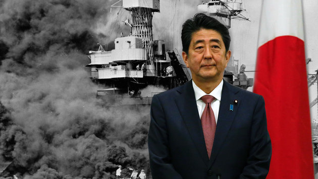 75 Jahre nach dem Inferno besucht Abe als erster japanischer Regierungschef Pearl Harbor. (Bild: APA/AFP/KENA BETANCUR, AP)