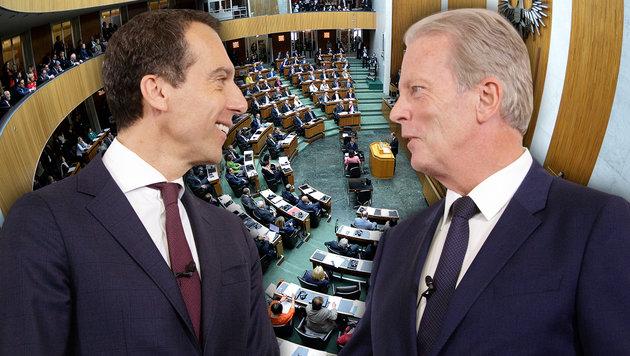Regierung: Statt Neuwahl bis 2018 weitermachen (Bild: APA/APA/Roland Schlager, APA/Georg Hochmuth)