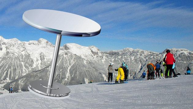 Snowboarder (22) auf Piste von Tisch getroffen (Bild: Planai, thinkstockphotos.de)