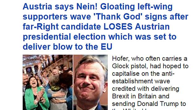 """""""Austrai says Nein!"""", schrieb die """"Daily Mail"""". (Bild: Daily Mail)"""