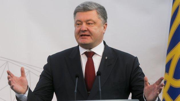 Der ukrainische Präsident Petro Poroschenko (Bild: Associated Press)