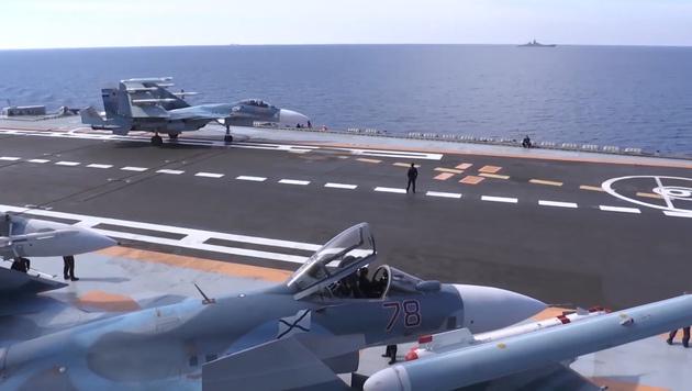 Russen crashen zwei Kampfjets binnen 3 Wochen (Bild: APA/AFP/Russian Defence Ministry/HO)