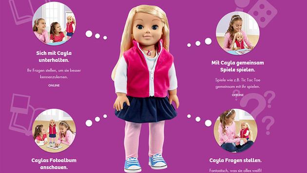 """Eltern aufgefordert: Puppe """"Cayla"""" muss sterben (Bild: myfriendcayla.de)"""