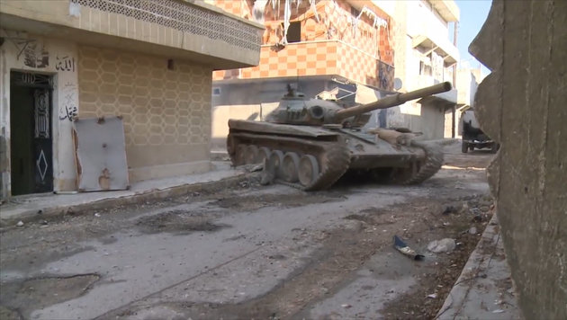 Der grausame Endkampf in den Straßen Aleppos (Bild: ruptly/krone.tv)